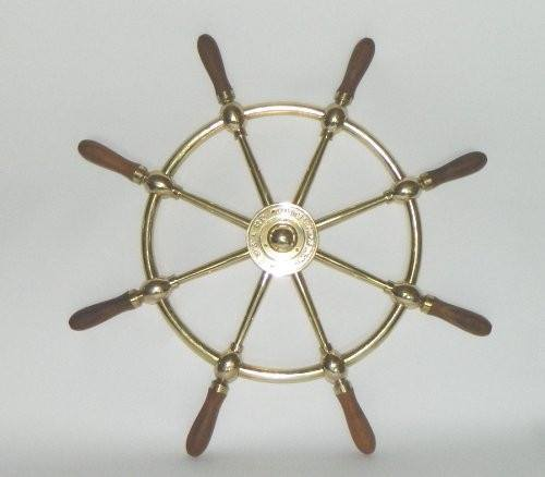 "Ship's Wheels - 24"" Brass Ship's Wheel, SW 111"
