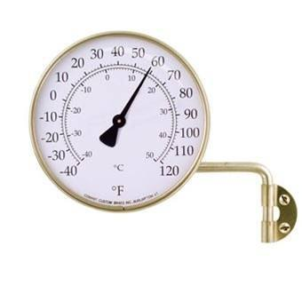 Weather Stations  - T6 Vermont Brass Dial Thermometer