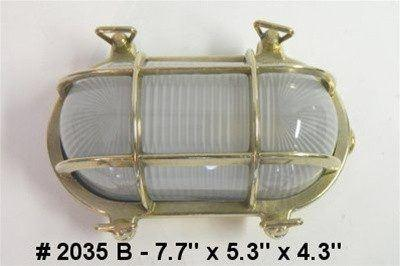 Brass Nautical Lights - 2035 B Oval Bulkhead Light