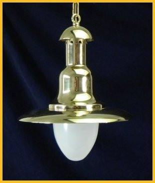 "Brass Nautical Lights - 2190 - 14"" Brass Fisherman's Light"
