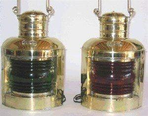 Brass Nautical Lights - 835 BL Port & Starboard Lights