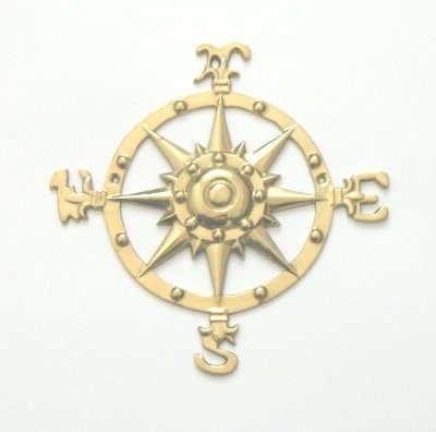018 Brass Compass Rose - Jonesport Nautical Gifts  - 1