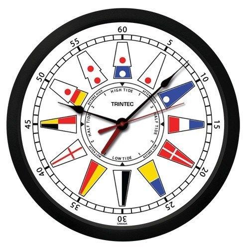 TT-W-02-NF Nautical Flag Time & Tide Clock from Trintec.