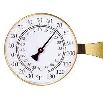 Weather Stations - T10 Vermont Large Dial Thermometer, Brass