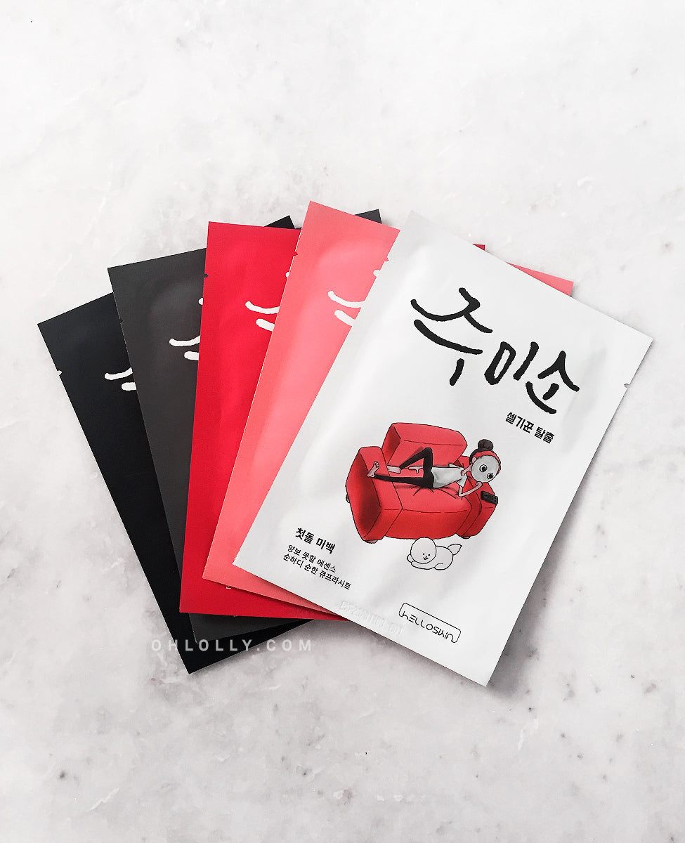 HelloSkin Jumiso Masks (Set of 5 - Assorted)