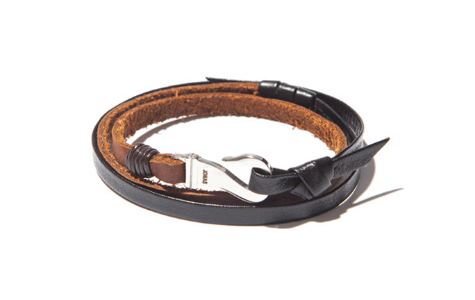 Triple Leather Wrap Bracelet