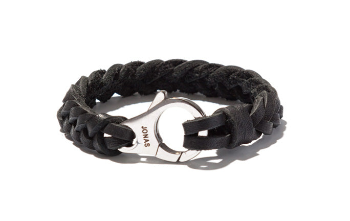 Handbraided Leather Bracelet with Industrial Closure