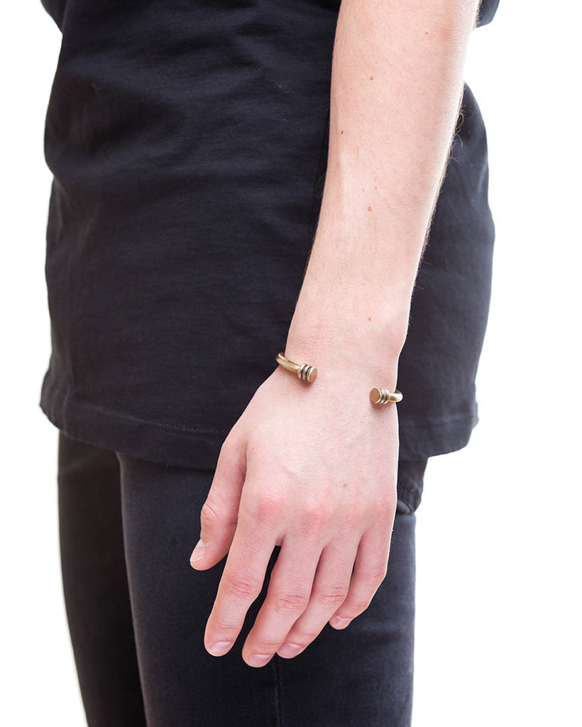 Brass cuff bracelet for men by Jonas Studio