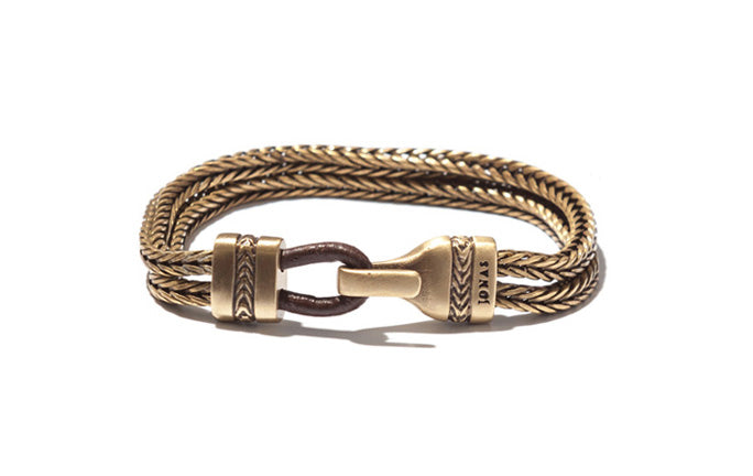 Double Row Bracelet with Herringbone Closure
