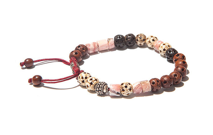 Warm Tonal Beaded Bracelet