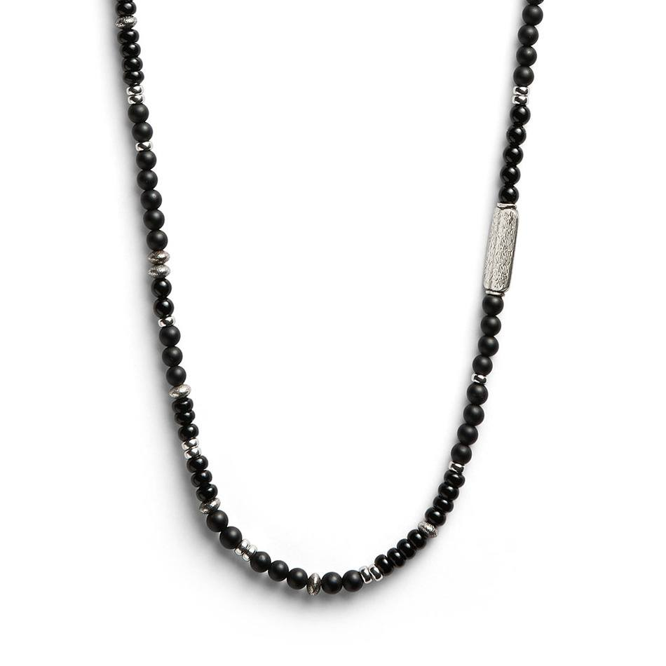 West 72 Onyx Necklace - Men's Beaded Necklace - Jonas Studio