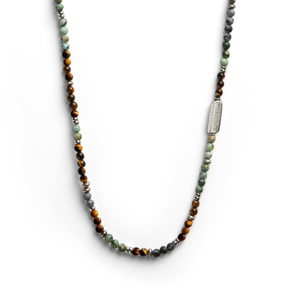 West 72 Multi Necklace - Men's Beaded Necklace - Jonas Studio
