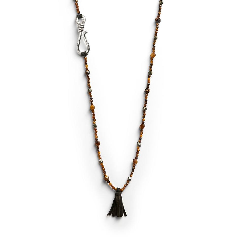 Lennon Tassel Necklace - Men's Handknotted Necklace - Jonas Studio