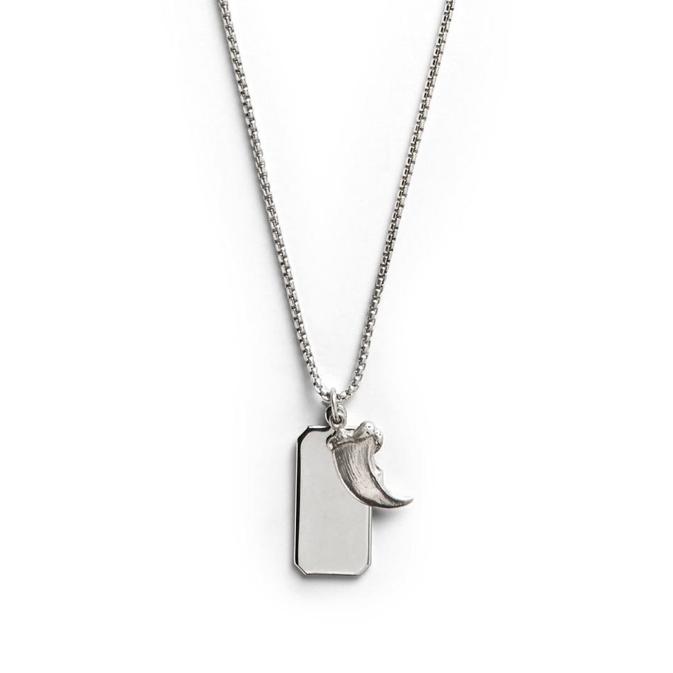 Silver Claw Pendant - Men's Silver Pendant Necklace - Jonas Studio