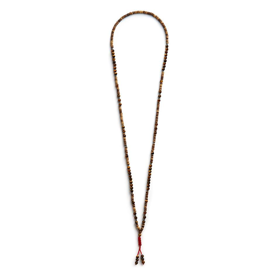 Bleeker Tiger Eye Necklace - Tassle-Style Men's Necklace - Jonas Studio