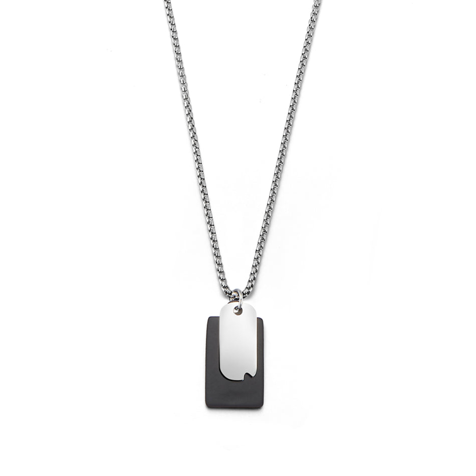 Time and Place Black Pendant