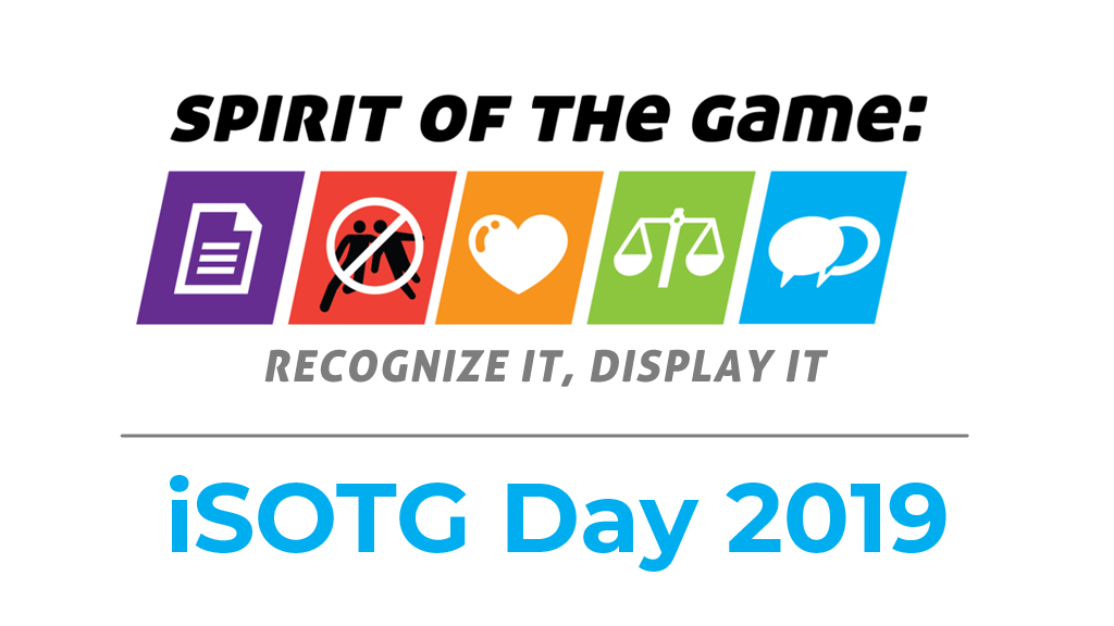 International Spirit of the Game Day 2019