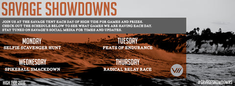 High Tide, Savage Showdowns, Activities, Competitions, Prizes, Games, North Myrtle Beach, Ultimate