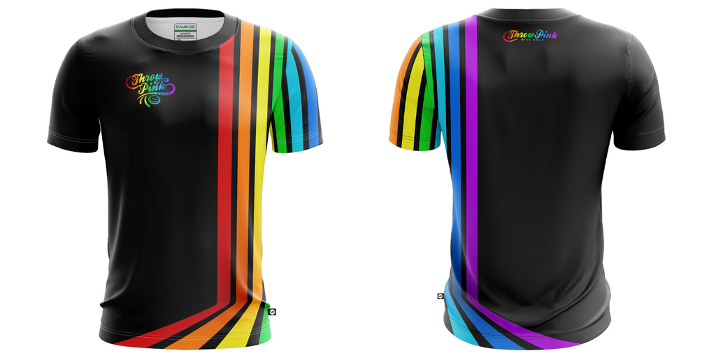 Partners in Pride Throw Pink Rainbow Disc Golf Jersey