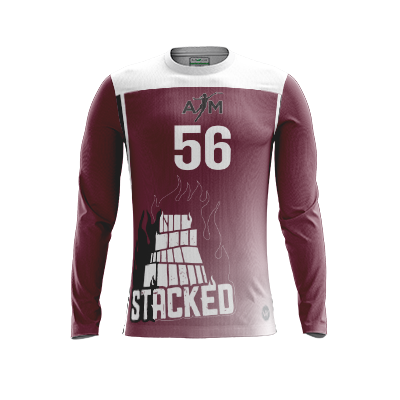 Texas A&M Stacked Full Sub Long Sleeve Jersey