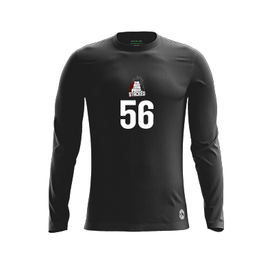 Texas A&M Stacked Black Long Sleeve Jersey