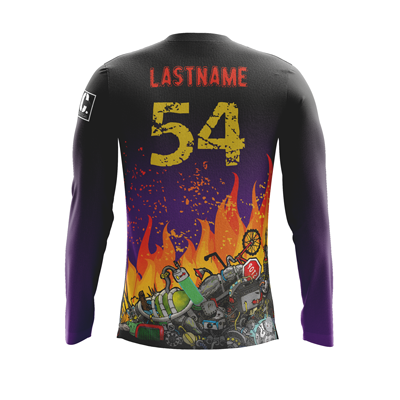 Dumpster Fire Dark Long Sleeve Jersey
