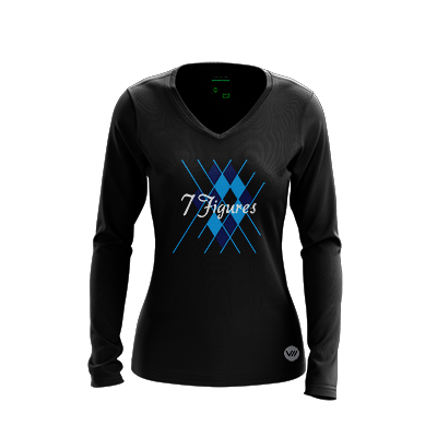 7 Figures Dark Long Sleeve Warmup Jersey