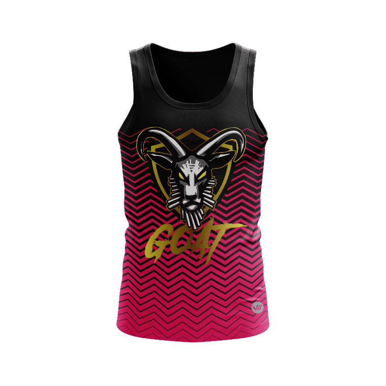 Goat Dodgeball Black Top Tank Jersey