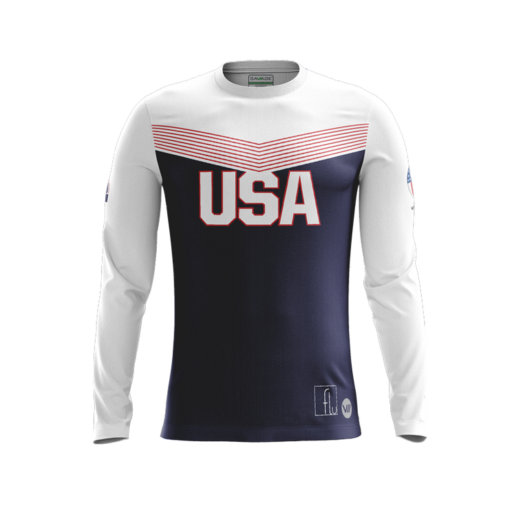 US Dodgeball Dark LS Jersey - Cushing 98