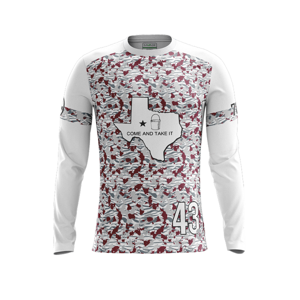 Texas State Buckets Alternate Light LS Jersey