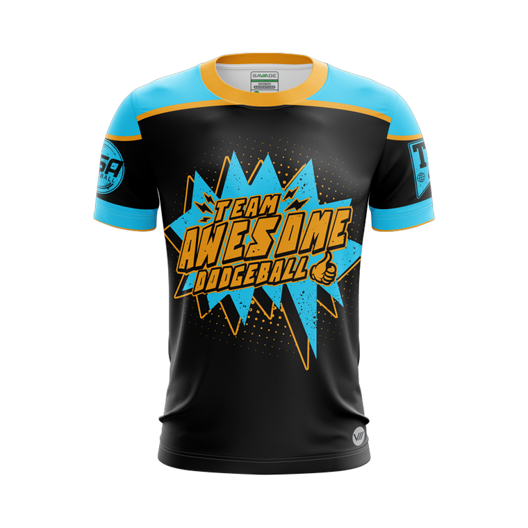 Team Awesome Dodgeball POW Jersey