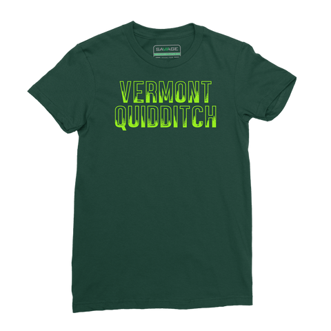 Vermont Quidditch Evergreen Tee