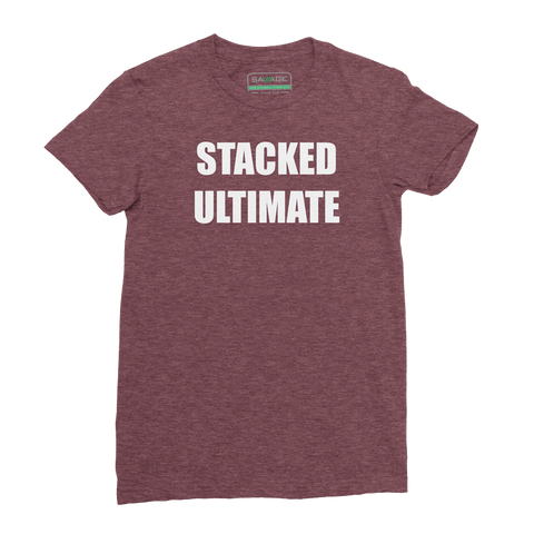 Stacked Ultimate Heathered Cardinal Tee