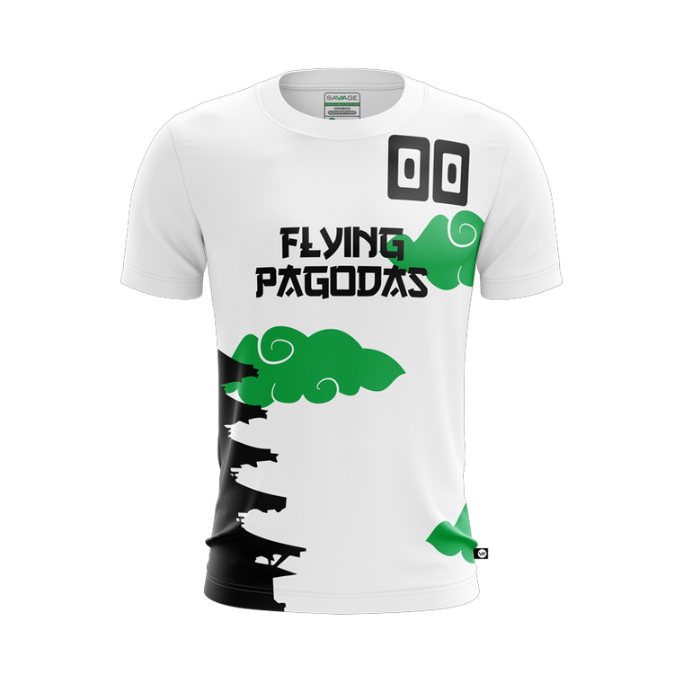Flying Pagodas White Jersey