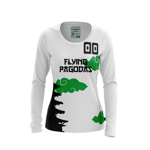 Flying Pagodas White LS Jersey