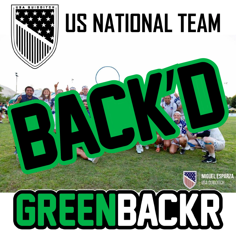 US National Quidditch Team Greenbackr