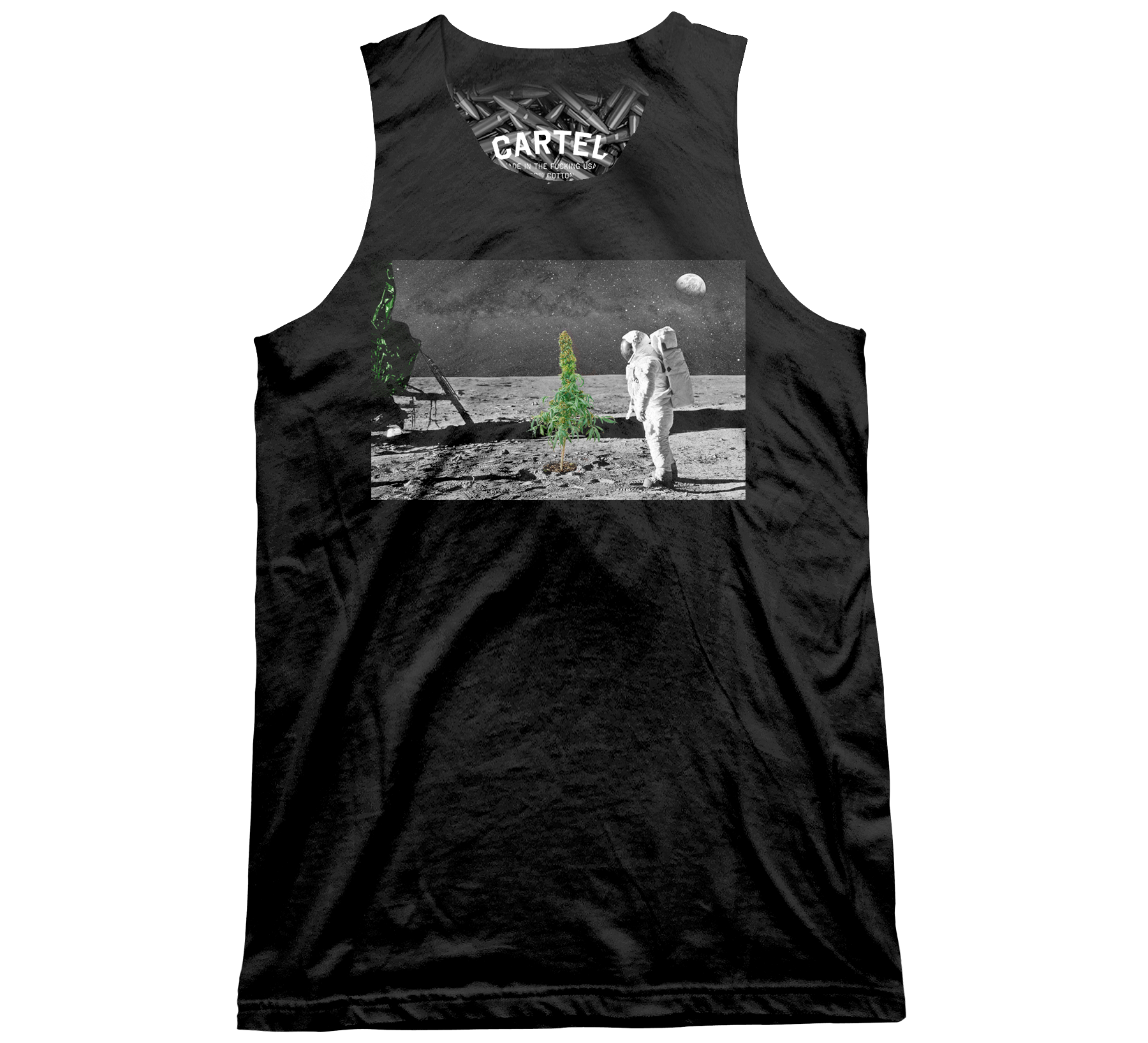 Green On The Moon Tank