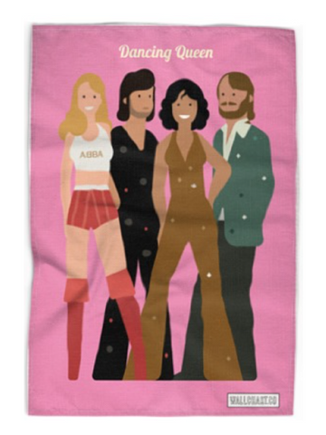 Abba Dancing Queen Tea Towel