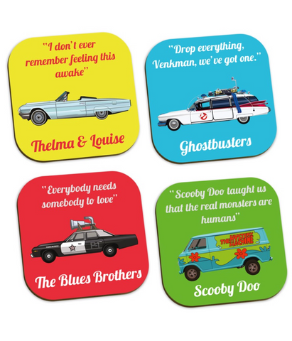 Movie Motor Coaster set (4 pack)