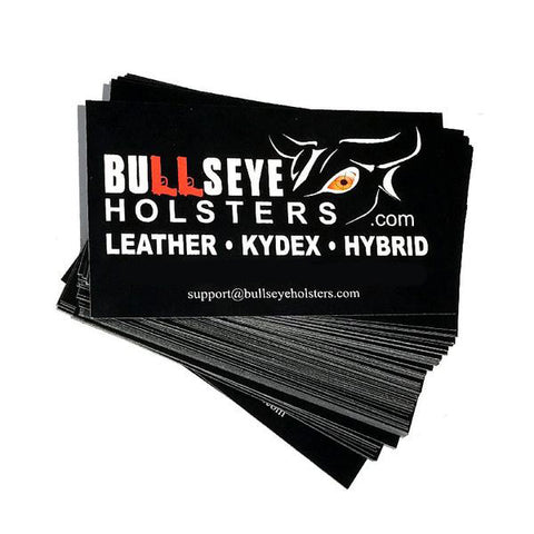 500 Bullseye Holsters Business Cards