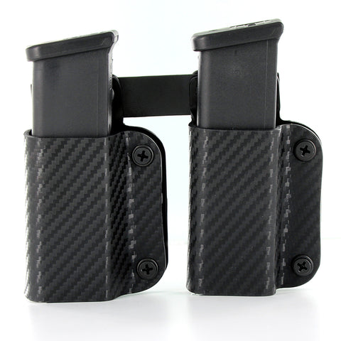 IWB/OWB - Double Mag Holster - Black Carbon Fiber