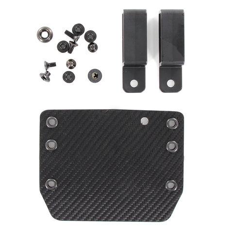OWB - Single Mag Holster - Black Carbon Fiber (DIY KIT)