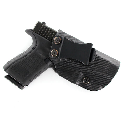 All Kydex IWB Holser Black Carbon Fiber - Front