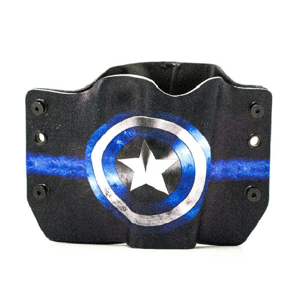 Image of Blue Shield on Kydex Gun Holster