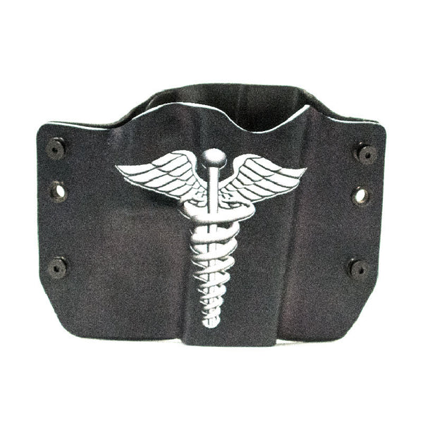 Image of Caduceus Symbol on Kydex Gun Holster