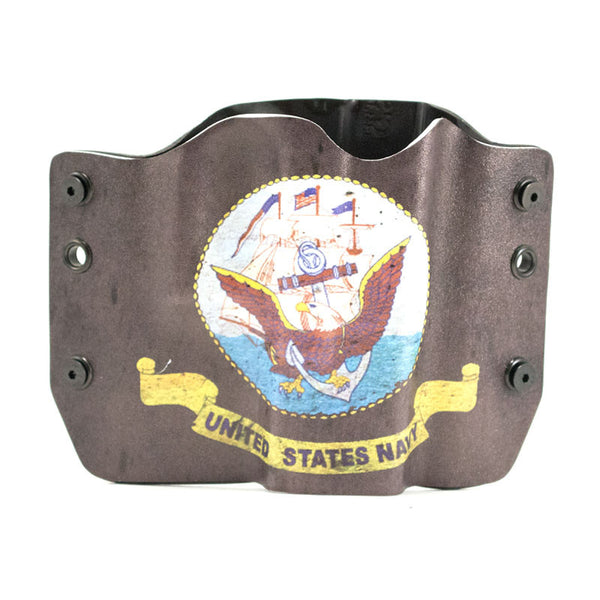 Navy logo on Grey Holster