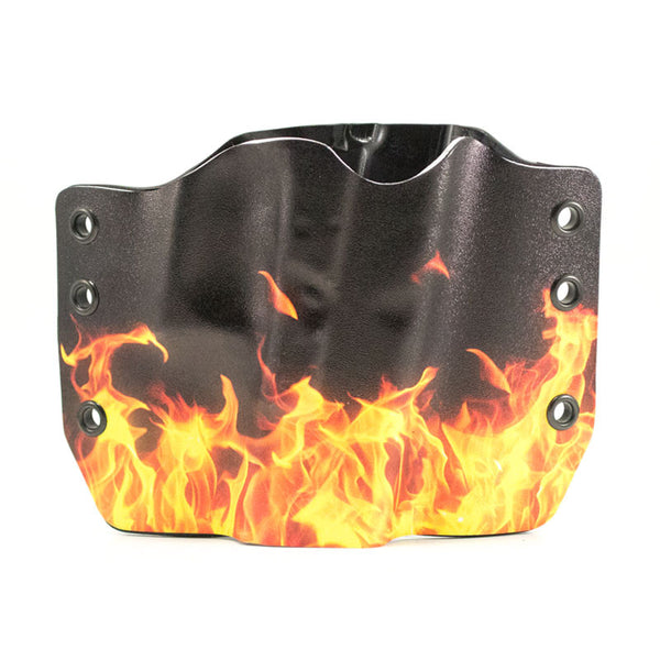 Image of Flames on Kydex Gun Holster