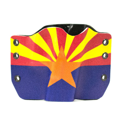 Image of Arizona Flag on Kydex Gun Holster