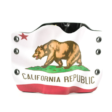 Image of California Flag on Kydex Gun Holster
