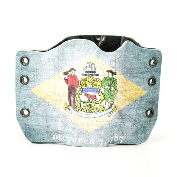Image of Delaware Flag on Kydex Gun Holster